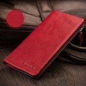 Universalt plånboksfodral i äkta läder - Röd (Röd)