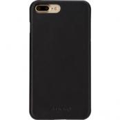Agna iPlate Real Leather (iPhone 8/7 Plus) - Svart