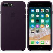Apple Läderskal (iPhone (8/7 Plus) - Aubergine