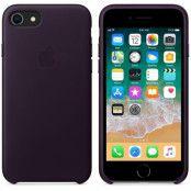 Apple Läderskal (iPhone 8/7) - Aubergine