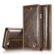 CaseMe Shiny Wallet (iPhone SE2/8/7) - Brun