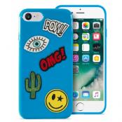 Puro Patch Mania Case (iPhone 8/7) - Blå