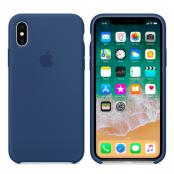 Apple Silikonskal (iPhone X) - Koboltblå