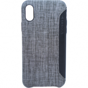 Brecca Fabric Card Cover (iPhone X/Xs) - Grå