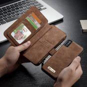 CaseMe Leather Wallet 14 (iPhone X/Xs) - Brun