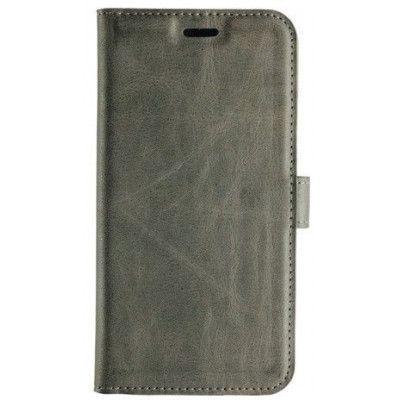 Essentials Leather Wallet (iPhone X/Xs) - Grå