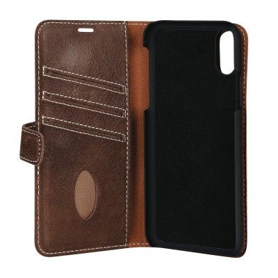 Essentials Magnet Wallet (iPhone X/Xs) - Brun