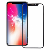iPhone X Glas med ram - Svart