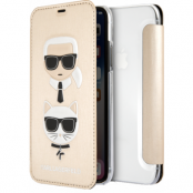 Karl Lagerfeld Choupette Flip Cover (iPhone X/Xs) - Guld