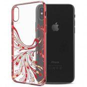 Kavaro Crystals Phoenix Case (iPhone X/Xs) - Röd