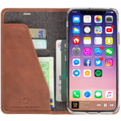 Krusell Sunne 4 Card FolioWallet (iPhone X/Xs) - Brun