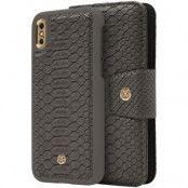 MARVÊLLE Magneto N301 Plånboksfodral iPhone X - Ash Grey Reptile