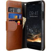 Melkco Wallet Case (iPhone X/Xs) - Brun