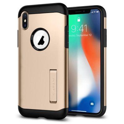 SPIGEN Slim Armor Skal till iPhone XS / X - Gold