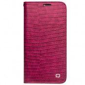 Trasig förpackning: Qialino Pink Croco (iPhone X/Xs)