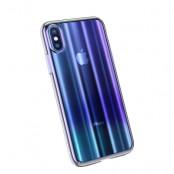 Baseus Aurora Case (iPhone Xs Max)  - Blå/transparent
