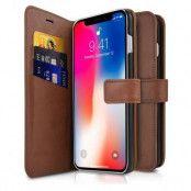 ITSKINS Magnetic Plånboksväska till iPhone XS Max - Brun
