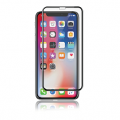 Panzer iPhone XS Max  Curved Silicate Glass - Black