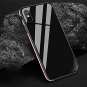 Sulada Tempered Glass TPU Metal cover (iPhone Xs Max) - Rosa