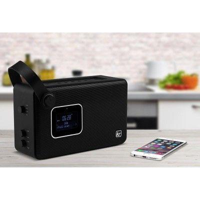 KITSOUND Radio Air Bluetooth Högtalare DAB+/FM - Svart