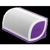 NYNE Mini Bluetooth-högtalare med 2200mA Li-Ion batteri, vit/lila
