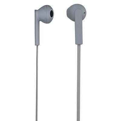 HAMA Hörlur Mood In-Ear Mic Platt kabel - Grå