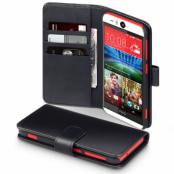 Plånboksfodral av äkta läder till HTC Desire Eye - Svart