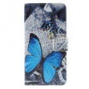 Plånboksfodral till HTC One A9 - Blå Fjäril