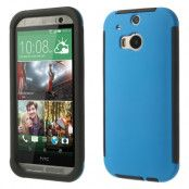 Combo Skal med inbyggd skärmskydd till HTC One M8 (Blå)