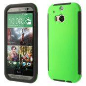 Combo Skal med inbyggd skärmskydd till HTC One M8 (Grön)