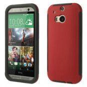 Combo Skal med inbyggd skärmskydd till HTC One M8 (Röd)