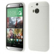 Dot Case FlexiSkal till HTC One (M8) - Vit