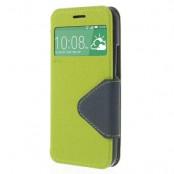 Roar Korea plånboksfodral med fönster till HTC One M8 - Grön