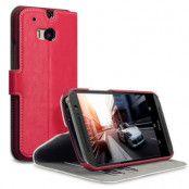 Slim Plånboksfodral HTC One M8 - Röd