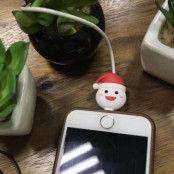 Christmas Cable Bites - Skyddar din iPhone kabel - Santa Hat