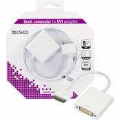 DELTACO adapter från Dockkontakt till DVII, för iPhone, iPad, vit
