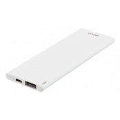 Deltaco Slim Pocket Size Powerbank 3600mAh 2.1A (Vit)