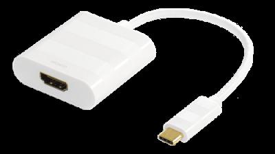 DELTACO USB 3.1 till HDMI adapter, USB typ C hane HDMI, 4K