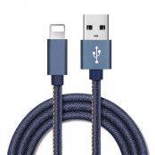 Floveme Jeans USB Lightning Kabel - 30 Cm