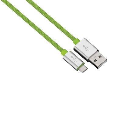 HAMA Synk-/Laddkabel MicroUSB 0,5m Colorline - Grön