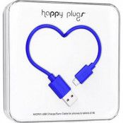Happy Plugs Micro-USB synk-/laddarkabel 2m - Cobalt
