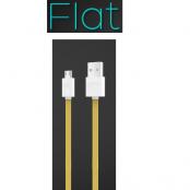iHave Flat Micro USB kabel - 900mm - (Gul)