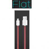 iHave Flat Micro USB kabel - 900mm - (Röd)