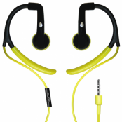Puro Stereo Earphone Sport Earhook and round cable - Lime