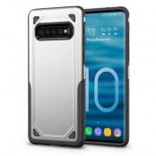 Rugged Armor Skal till Samsung Galaxy S10 Plus - Silver