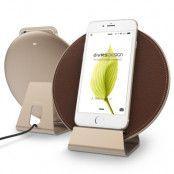 Verus plate halo trådlös mobilladdare - Gold