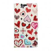 Plånboksfodral till LG V10 - Hjärtan