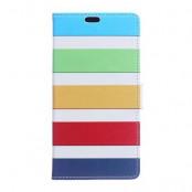 Plånboksfodral till LG V10 - Rainbow Stripes