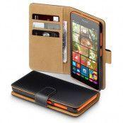 Plånboksfodral till Microsoft Lumia 535 - Svart/Brun