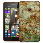 Skal till Lumia 535 - Marble - Grön/Brun